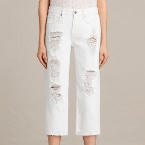 hostpick💯 ALL SAINTS Ivy Distressed Cropped Jeans